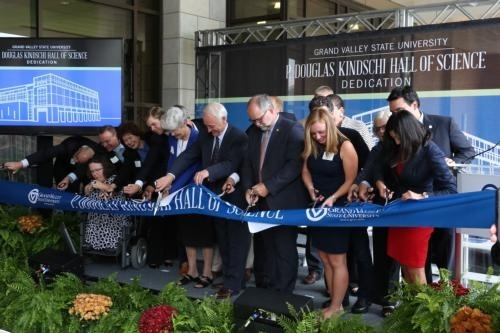 Ribbon cutting at Kindschi Hall of Science